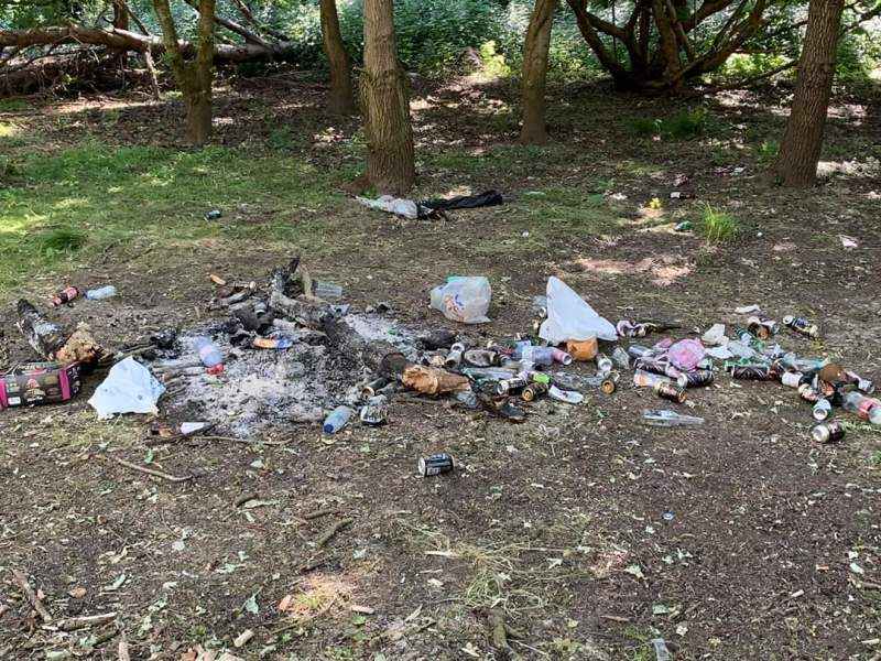 Litter at Narborough Bog 2 (c) Leicestershire and Rutland Wildlife Trust
